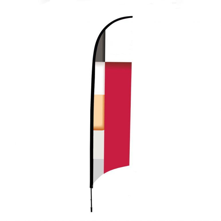 Bandera Pluma 80x300