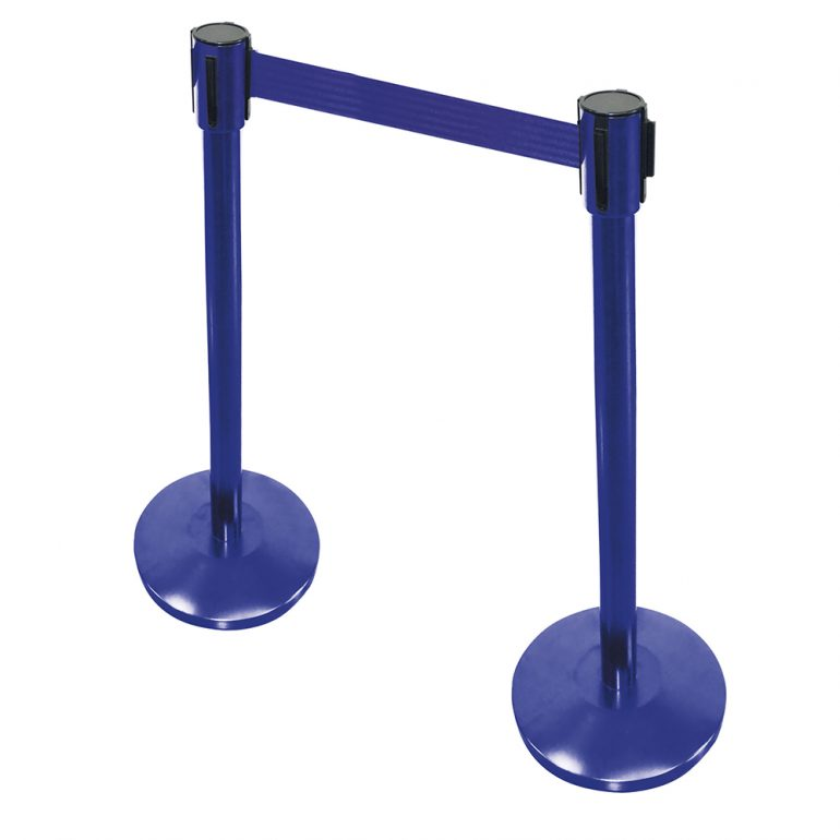 postes separadores con cinta seguridad